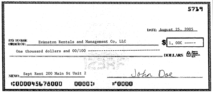 Paying rent houses for rent in evanston near the northwestern this is how your rent check should look however ccuart Images